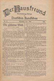 Der Hausfreund : Unterhaltungs-Beilage zur Deutschen Rundschau. 1926, Nr. 79 (1 Mai)
