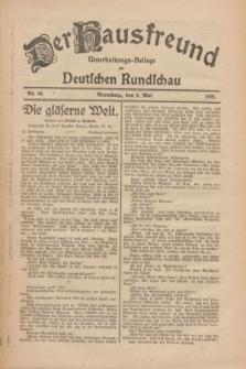 Der Hausfreund : Unterhaltungs-Beilage zur Deutschen Rundschau. 1926, Nr. 84 (8 Mai)