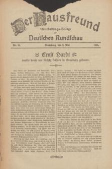 Der Hausfreund : Unterhaltungs-Beilage zur Deutschen Rundschau. 1926, Nr. 85 (9 Mai)