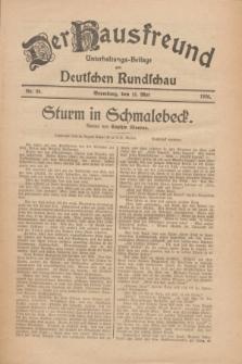Der Hausfreund : Unterhaltungs-Beilage zur Deutschen Rundschau. 1926, Nr. 88 (13 Mai)