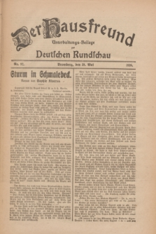 Der Hausfreund : Unterhaltungs-Beilage zur Deutschen Rundschau. 1926, Nr. 97 (28 Mai)