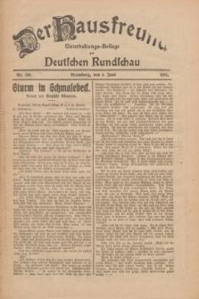 Der Hausfreund : Unterhaltungs-Beilage zur Deutschen Rundschau. 1926, Nr. 100 (3 Juni)