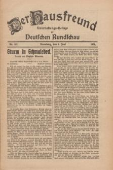 Der Hausfreund : Unterhaltungs-Beilage zur Deutschen Rundschau. 1926, Nr. 102 (6 Juni)