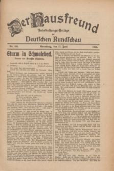 Der Hausfreund : Unterhaltungs-Beilage zur Deutschen Rundschau. 1926, Nr. 106 (12 Juni)