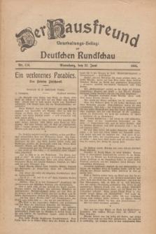 Der Hausfreund : Unterhaltungs-Beilage zur Deutschen Rundschau. 1926, Nr. 114 (23 Juni)