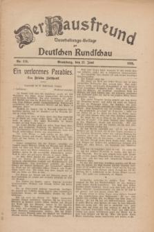 Der Hausfreund : Unterhaltungs-Beilage zur Deutschen Rundschau. 1926, Nr. 118 (27 Juni)