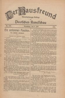 Der Hausfreund : Unterhaltungs-Beilage zur Deutschen Rundschau. 1926, Nr. 120 (3 Juli)