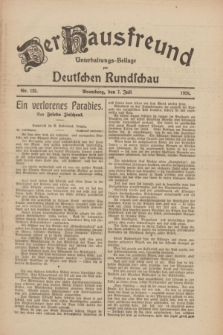 Der Hausfreund : Unterhaltungs-Beilage zur Deutschen Rundschau. 1926, Nr. 123 (7 Juli)