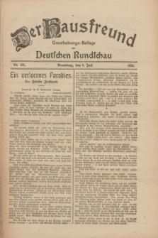 Der Hausfreund : Unterhaltungs-Beilage zur Deutschen Rundschau. 1926, Nr. 125 (9 Juli)
