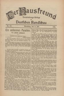 Der Hausfreund : Unterhaltungs-Beilage zur Deutschen Rundschau. 1926, Nr. 128 (14 Juli)