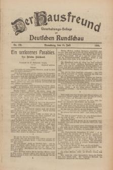 Der Hausfreund : Unterhaltungs-Beilage zur Deutschen Rundschau. 1926, Nr. 129 (15 Juli)
