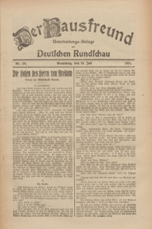 Der Hausfreund : Unterhaltungs-Beilage zur Deutschen Rundschau. 1926, Nr. 131 (20 Juli)