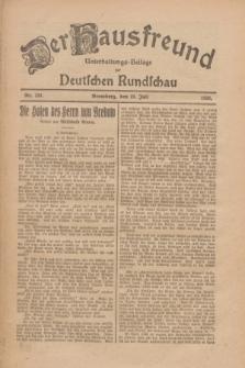 Der Hausfreund : Unterhaltungs-Beilage zur Deutschen Rundschau. 1926, Nr. 134 (23 Juli)