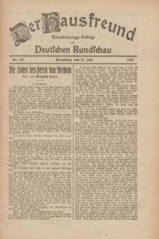 Der Hausfreund : Unterhaltungs-Beilage zur Deutschen Rundschau. 1926, Nr. 137 (27 Juli)