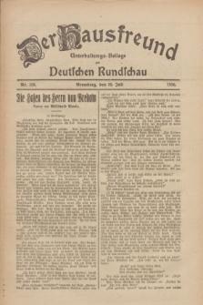 Der Hausfreund : Unterhaltungs-Beilage zur Deutschen Rundschau. 1926, Nr. 138 (28 Juli)