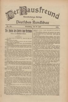 Der Hausfreund : Unterhaltungs-Beilage zur Deutschen Rundschau. 1926, Nr. 139 (29 Juli)