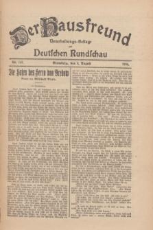 Der Hausfreund : Unterhaltungs-Beilage zur Deutschen Rundschau. 1926, Nr. 142 (4 August)