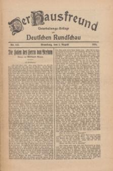 Der Hausfreund : Unterhaltungs-Beilage zur Deutschen Rundschau. 1926, Nr. 143 (5 August)