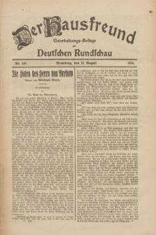 Der Hausfreund : Unterhaltungs-Beilage zur Deutschen Rundschau. 1926, Nr. 149 (12 August)