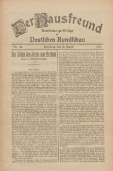 Der Hausfreund : Unterhaltungs-Beilage zur Deutschen Rundschau. 1926, Nr. 155 (19 August)