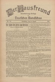 Der Hausfreund : Unterhaltungs-Beilage zur Deutschen Rundschau. 1926, Nr. 156 (20 August)