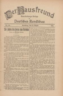 Der Hausfreund : Unterhaltungs-Beilage zur Deutschen Rundschau. 1926, Nr. 158 (22 August)