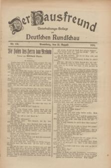 Der Hausfreund : Unterhaltungs-Beilage zur Deutschen Rundschau. 1926, Nr. 160 (25 August)