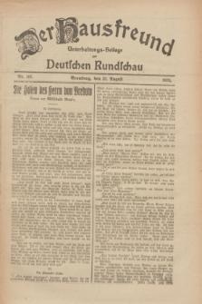 Der Hausfreund : Unterhaltungs-Beilage zur Deutschen Rundschau. 1926, Nr. 163 (28 August)