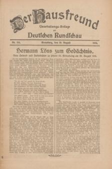 Der Hausfreund : Unterhaltungs-Beilage zur Deutschen Rundschau. 1926, Nr. 164 (29 August)