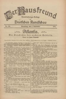 Der Hausfreund : Unterhaltungs-Beilage zur Deutschen Rundschau. 1926, Nr. 168 (4 September)