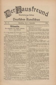 Der Hausfreund : Unterhaltungs-Beilage zur Deutschen Rundschau. 1926, Nr. 173 (11 September)