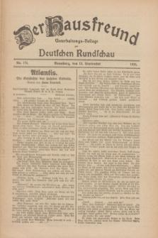Der Hausfreund : Unterhaltungs-Beilage zur Deutschen Rundschau. 1926, Nr. 174 (12 September)