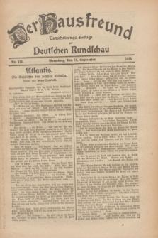 Der Hausfreund : Unterhaltungs-Beilage zur Deutschen Rundschau. 1926, Nr. 178 (18 September)