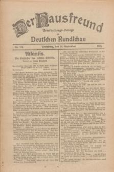 Der Hausfreund : Unterhaltungs-Beilage zur Deutschen Rundschau. 1926, Nr. 184 (26 September)