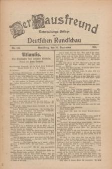 Der Hausfreund : Unterhaltungs-Beilage zur Deutschen Rundschau. 1926, Nr. 186 (30 September)