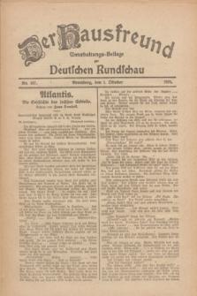 Der Hausfreund : Unterhaltungs-Beilage zur Deutschen Rundschau. 1926, Nr. 187 (1 Oktober)