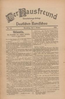 Der Hausfreund : Unterhaltungs-Beilage zur Deutschen Rundschau. 1926, Nr. 188 (2 Oktober)