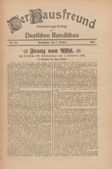 Der Hausfreund : Unterhaltungs-Beilage zur Deutschen Rundschau. 1926, Nr. 189 (3 Oktober)