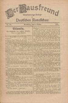 Der Hausfreund : Unterhaltungs-Beilage zur Deutschen Rundschau. 1926, Nr. 192 (8 Oktober)