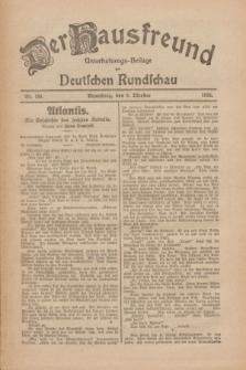 Der Hausfreund : Unterhaltungs-Beilage zur Deutschen Rundschau. 1926, Nr. 193 (9 Oktober)