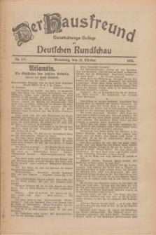 Der Hausfreund : Unterhaltungs-Beilage zur Deutschen Rundschau. 1926, Nr. 194 (10 Oktober)