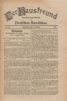 Der Hausfreund : Unterhaltungs-Beilage zur Deutschen Rundschau. 1926, Nr. 195 (12 Oktober)