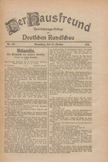 Der Hausfreund : Unterhaltungs-Beilage zur Deutschen Rundschau. 1926, Nr. 196 (13 Oktober)