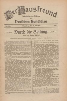 Der Hausfreund : Unterhaltungs-Beilage zur Deutschen Rundschau. 1926, Nr. 198 (16 Oktober)