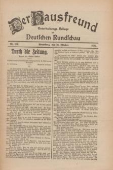 Der Hausfreund : Unterhaltungs-Beilage zur Deutschen Rundschau. 1926, Nr. 201 (20 Oktober)