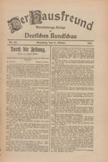 Der Hausfreund : Unterhaltungs-Beilage zur Deutschen Rundschau. 1926, Nr. 202 (21 Oktober)