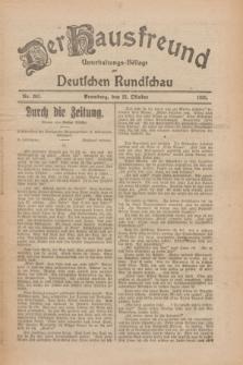 Der Hausfreund : Unterhaltungs-Beilage zur Deutschen Rundschau. 1926, Nr. 203 (22 Oktober)