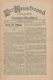 Der Hausfreund : Unterhaltungs-Beilage zur Deutschen Rundschau. 1926, Nr. 204 (23 Oktober)
