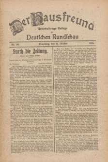 Der Hausfreund : Unterhaltungs-Beilage zur Deutschen Rundschau. 1926, Nr. 208 (28 Oktober)