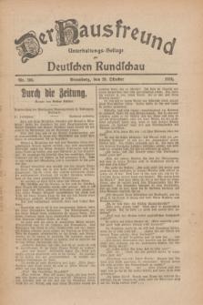 Der Hausfreund : Unterhaltungs-Beilage zur Deutschen Rundschau. 1926, Nr. 209 (29 Oktober)